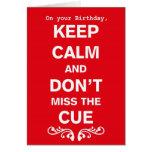 Keep Calm Tribal Improv Belly Dance Birthday Card