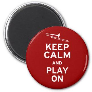 Keep Calm Trombone 2 Inch Round Magnet