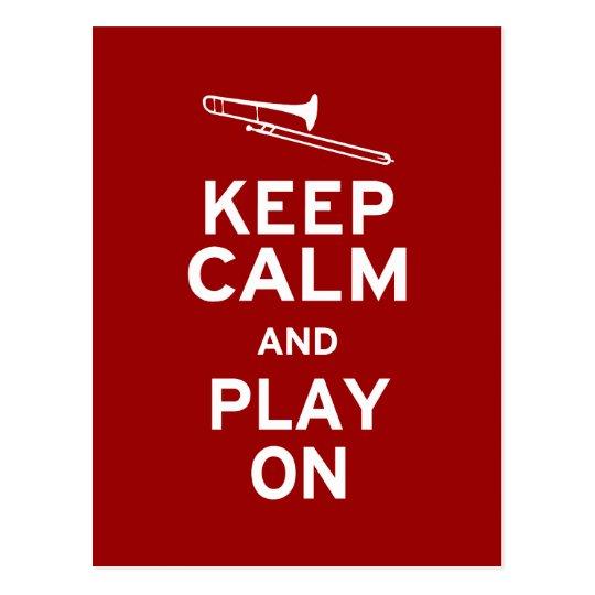 Keep Calm Trombone Postcard