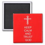 Keep Calm Trust God Magnet at Zazzle