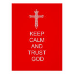 Keep Calm Trust God Posters