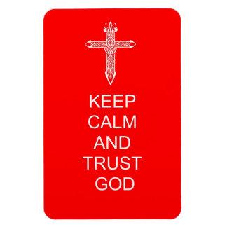 Keep Calm Trust God Vinyl Magnets