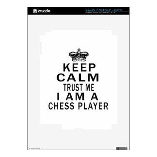 Keep Calm Trust Me I Am A Chess player iPad 3 Skins