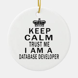Keep Calm Trust Me I Am A Database developer Ceramic Ornament