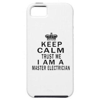 Keep Calm Trust Me I Am A Master Electrician iPhone 5 Case