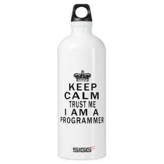 Keep Calm Trust Me I Am A Programmer SIGG Traveler 1.0L Water Bottle