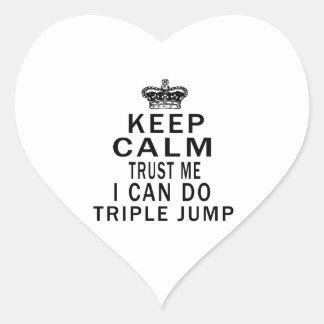 Keep Calm Trust Me I Can Do Triple jump Heart Sticker