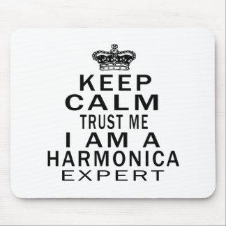 Keep calm trust me I'm a Harmonica expert Mouse Pad