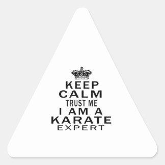 Keep calm trust me I'm a KARATE expert Triangle Sticker