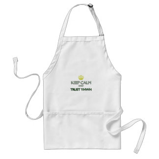 Keep Calm Trust YHWH Adult Apron