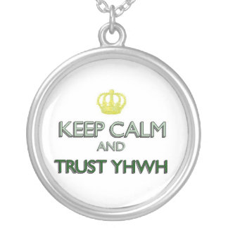 Keep Calm Trust YHWH Personalized Necklace