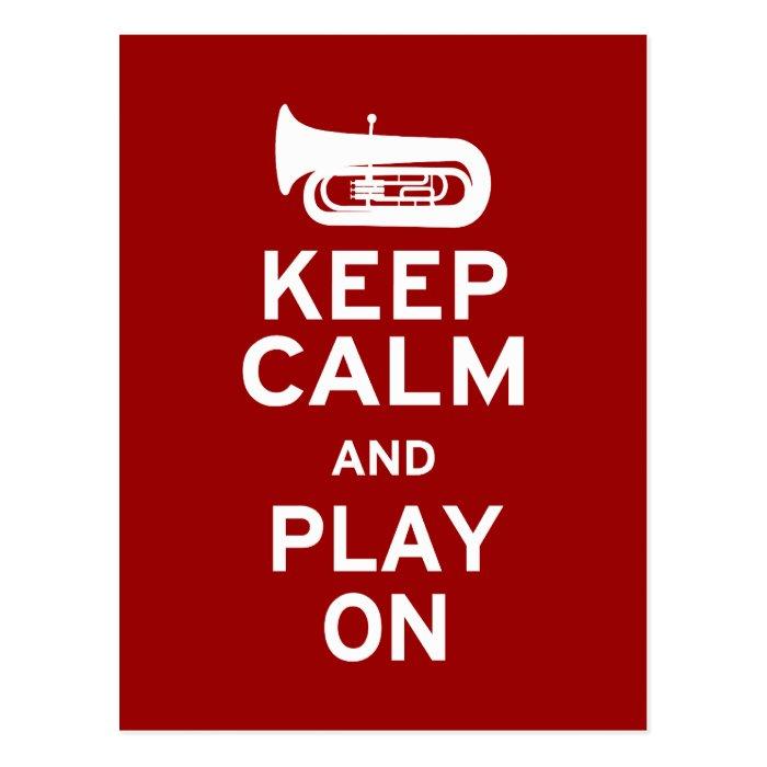 Keep Calm Tuba Postcard