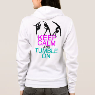 Keep Calm Tumble On Gymnastics Hoodie