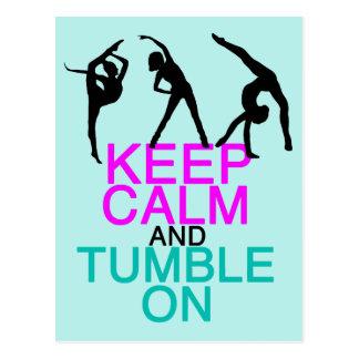Keep Calm Tumble On Gymnastics Postcard