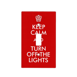 Keep Calm Turn Off Lights Light Switch Cover