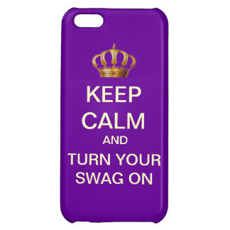 Keep Calm Turn Your Swag On iPhone 5 Case (Purple)