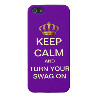 Keep Calm Turn Your Swag On Mod iPhone 5 Case