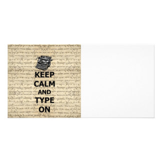 Keep calm & type on card