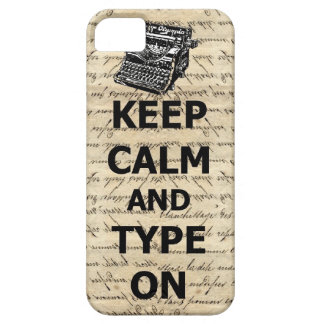 Keep calm & type on iPhone SE/5/5s case