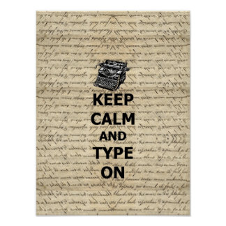 Keep calm type on print