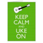 Keep Calm Uke On (Shamrock) Cards