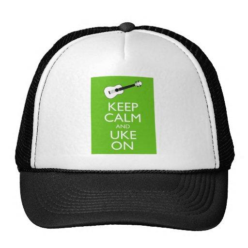 Keep Calm Uke On (Shamrock) Trucker Hat