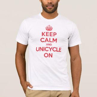 Keep Calm Unicycle T-Shirt
