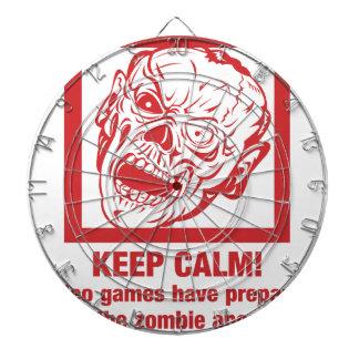 Keep calm, video games prepared me for zombie... dartboard