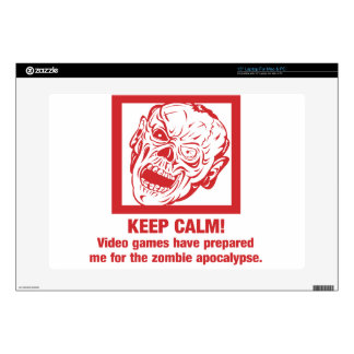 Keep calm, video games prepared me for zombie... laptop decal