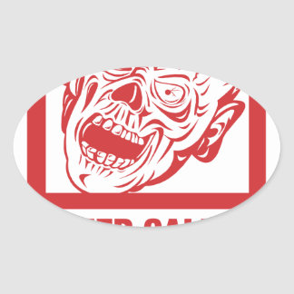 Keep calm, video games prepared me for zombie... oval stickers