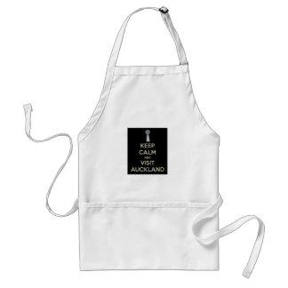 keep calm visit auckland adult apron
