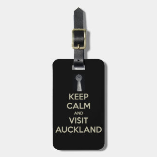 keep calm visit auckland bag tag