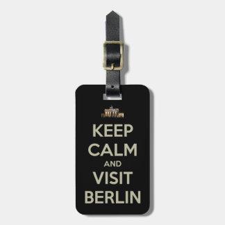 keep calm visit berlin bag tag