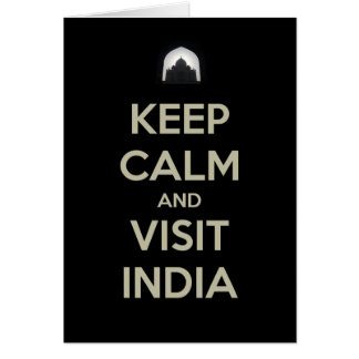 keep calm visit india card