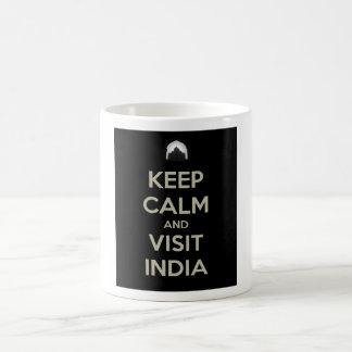 keep calm visit india coffee mug