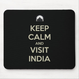 keep calm visit india mouse pad