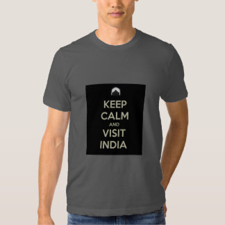 keep calm visit india shirt