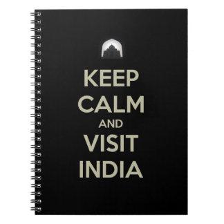 keep calm visit india spiral notebook