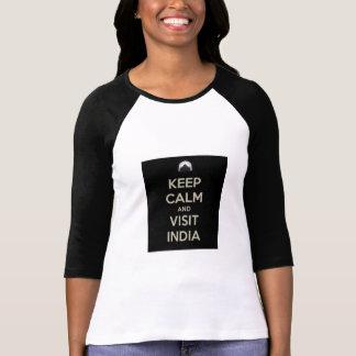 keep calm visit india t shirt