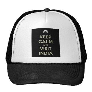 keep calm visit india trucker hat