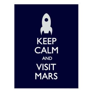 Keep Calm Visit Mars postcard