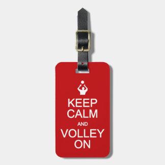 Keep Calm & Volley On custom luggage tag