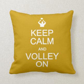 Keep Calm & Volley On custom pillow