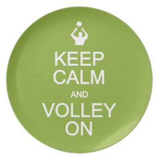 Keep Calm & Volley On custom plates