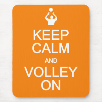 Keep Calm & Volley On mousepad