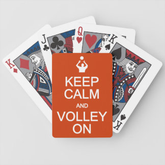 Keep Calm & Volley On playing cards