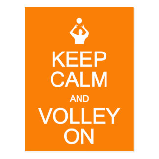 Keep Calm & Volley On postcard, customize Postcard