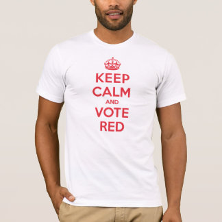 Keep Calm Vote Red T-Shirt