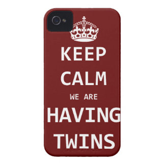Keep Calm we are having twins iPhone 4 Case-Mate Cases