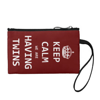 Keep Calm we are having twins Coin Purse
